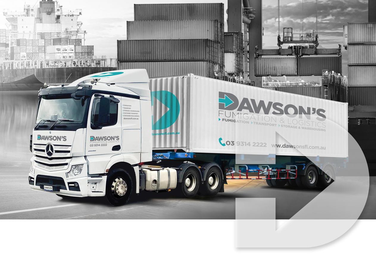 Dawsons Fumigation & Logistics Truck